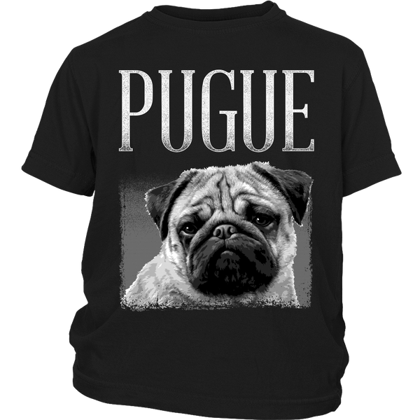 Pugue Kids T-shirt - the passionate pug - District Youth Shirt / Black / XS - 3