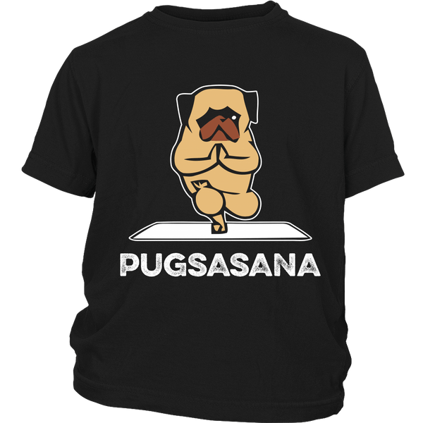 Pugsasana Kids T-shirt - the passionate pug - District Youth Shirt / Black / XS - 3
