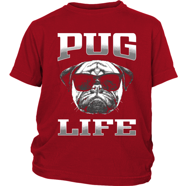 Pug Life 2 Kids T-shirt - the passionate pug - District Youth Shirt / Red / XS - 2