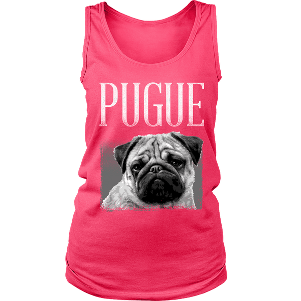 Women's Pugue T-shirt - the passionate pug - District Womens Tank / Neon Pink / S - 3