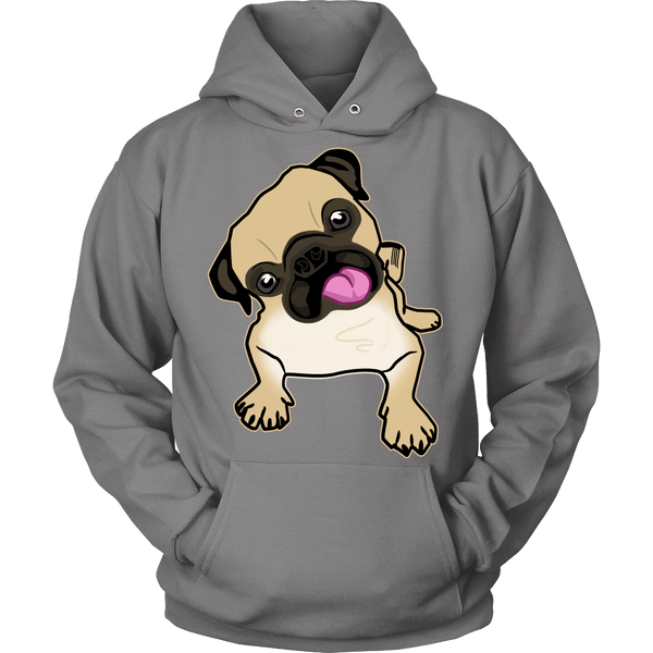 Fawn Pug Hoodie - the passionate pug - Hoodie / Grey / S - 3