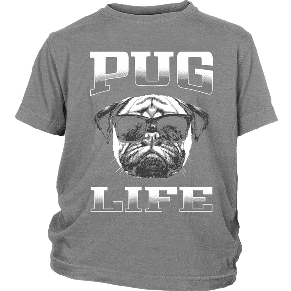 Pug Life 2 Kids T-shirt - the passionate pug - District Youth Shirt / Sport Grey / XS - 4