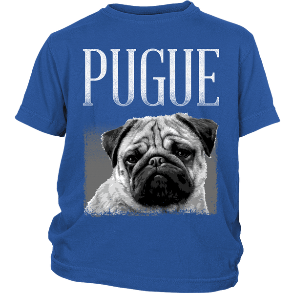 Pugue Kids T-shirt - the passionate pug - District Youth Shirt / Royal Blue / XS - 1