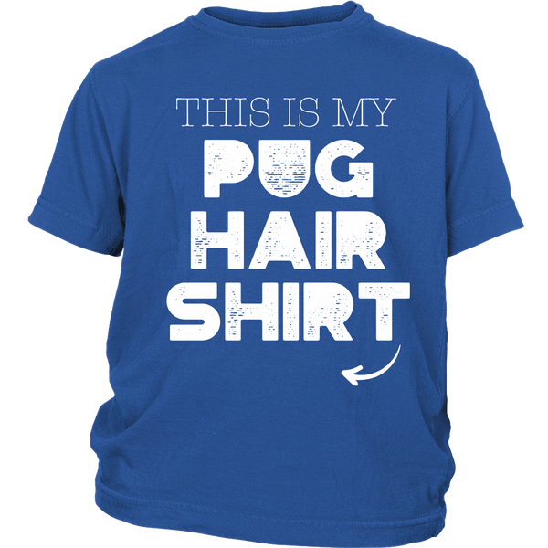My Pug Hair Kids T-shirt - the passionate pug - District Youth Shirt / Royal Blue / XS - 1