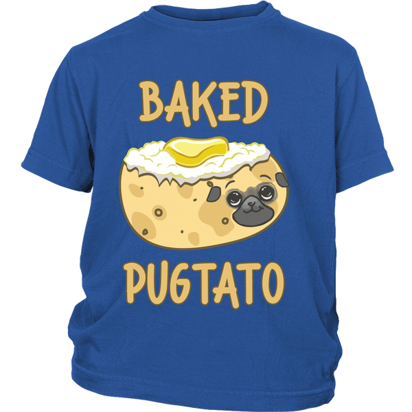 Baked Pugtato Kids T-shirt - the passionate pug - District Youth Shirt / Royal Blue / XS - 2