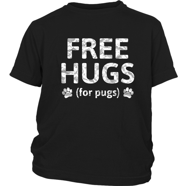 Free Hugs for Pugs Kid's T-shirt - the passionate pug - District Youth Shirt / Black / XS - 3