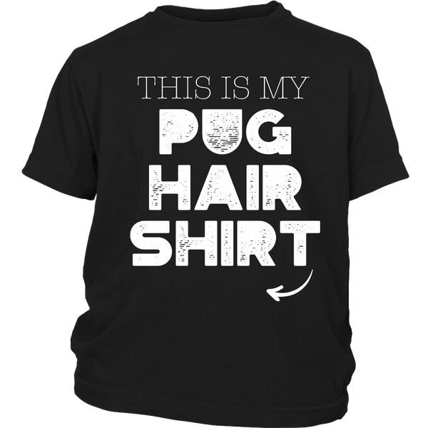 My Pug Hair Kids T-shirt - the passionate pug - District Youth Shirt / Black / XS - 3