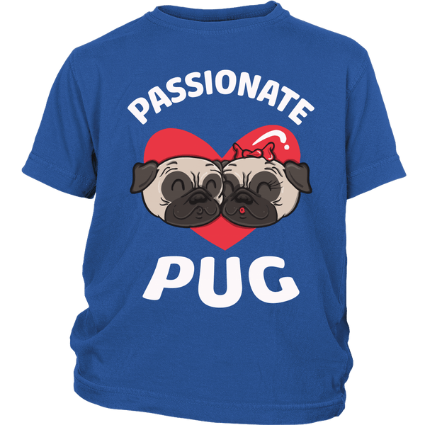 Passionate Pug Kids T-shirt - the passionate pug - District Youth Shirt / Royal Blue / XS - 1