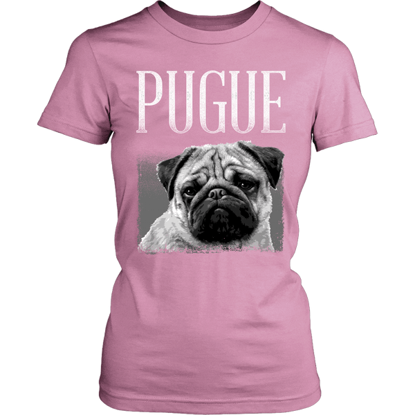 Women's Pugue T-shirt - the passionate pug - District Womens Shirt / Pink / XS - 5