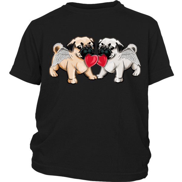 Love Pugs Kids T-shirt - the passionate pug - District Youth Shirt / Black / XS - 4