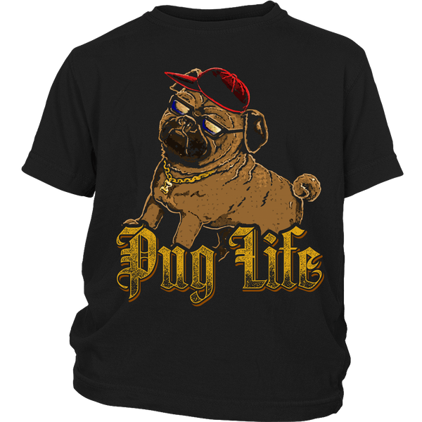 Pug Life 3 Kids T-shirt - the passionate pug - District Youth Shirt / Black / XS