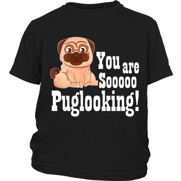 Puglooking Kids T-shirt - the passionate pug - District Youth Shirt / Black / XS - 3
