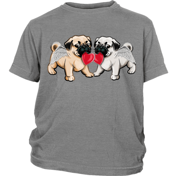 Love Pugs Kids T-shirt - the passionate pug - District Youth Shirt / Sport Grey / XS - 5