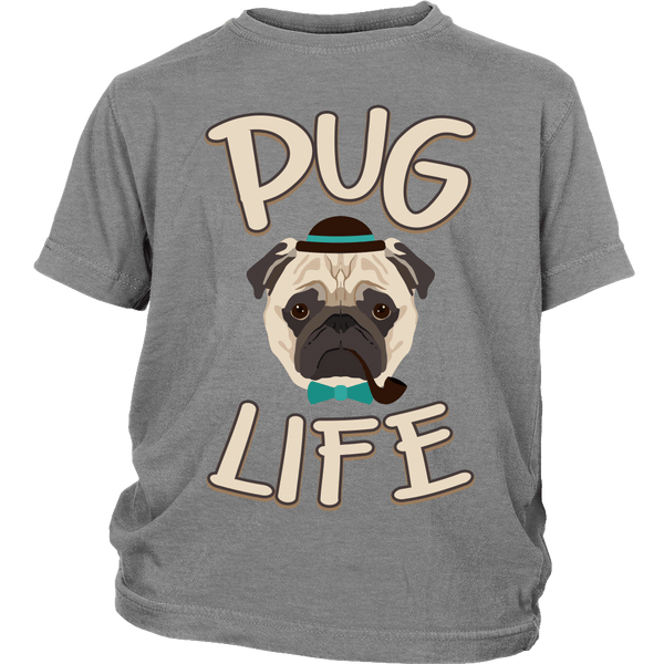 Pug Life Kids T-shirt - the passionate pug - District Youth Shirt / Sport Grey / XS - 5