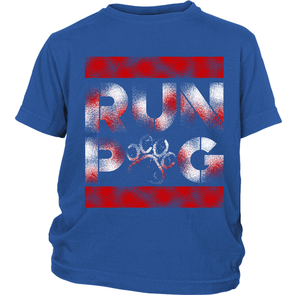Run Pug Kids T-shirt - the passionate pug - District Youth Shirt / Royal Blue / XS - 1