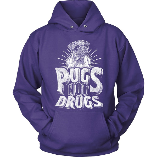 Pugs Not Drugs Hoodie - thepassionatepug - Hoodie / Purple / S - 3