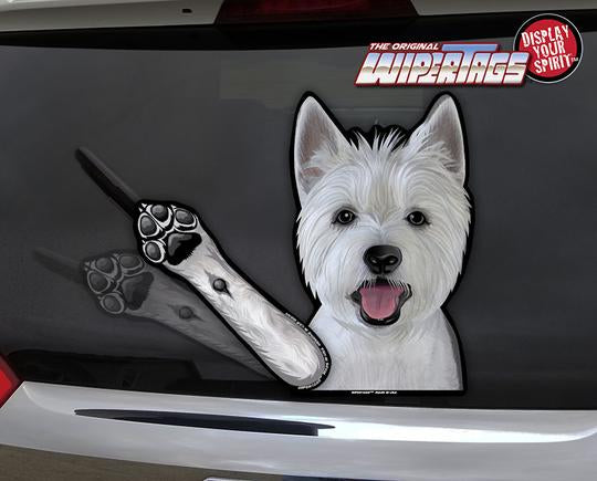 Westie Waving Dog Wiper
