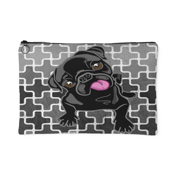 Black Pug Makeup Pouch