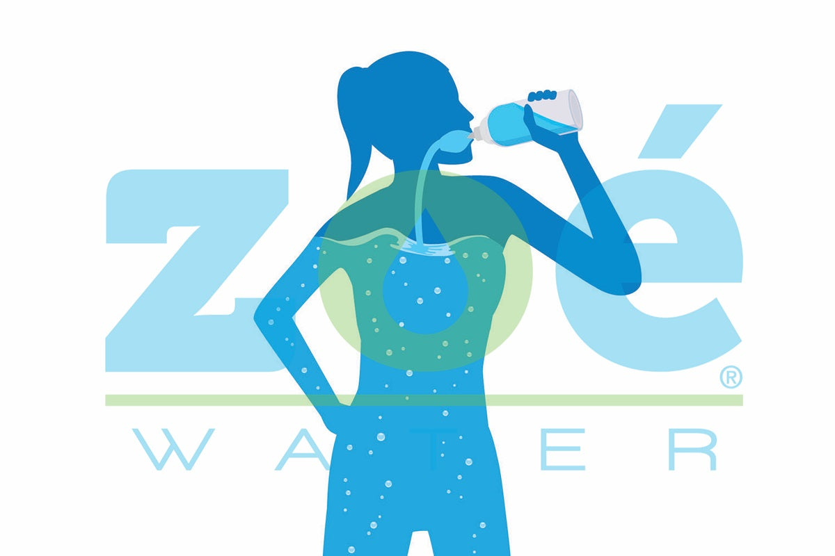 Water as a percentage of body weight in adults: Zoé Water USA