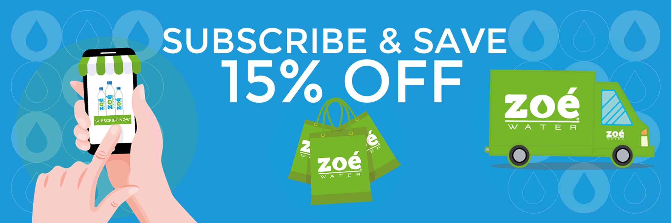 Zoé Water USA Subscribe and save 15% OFF