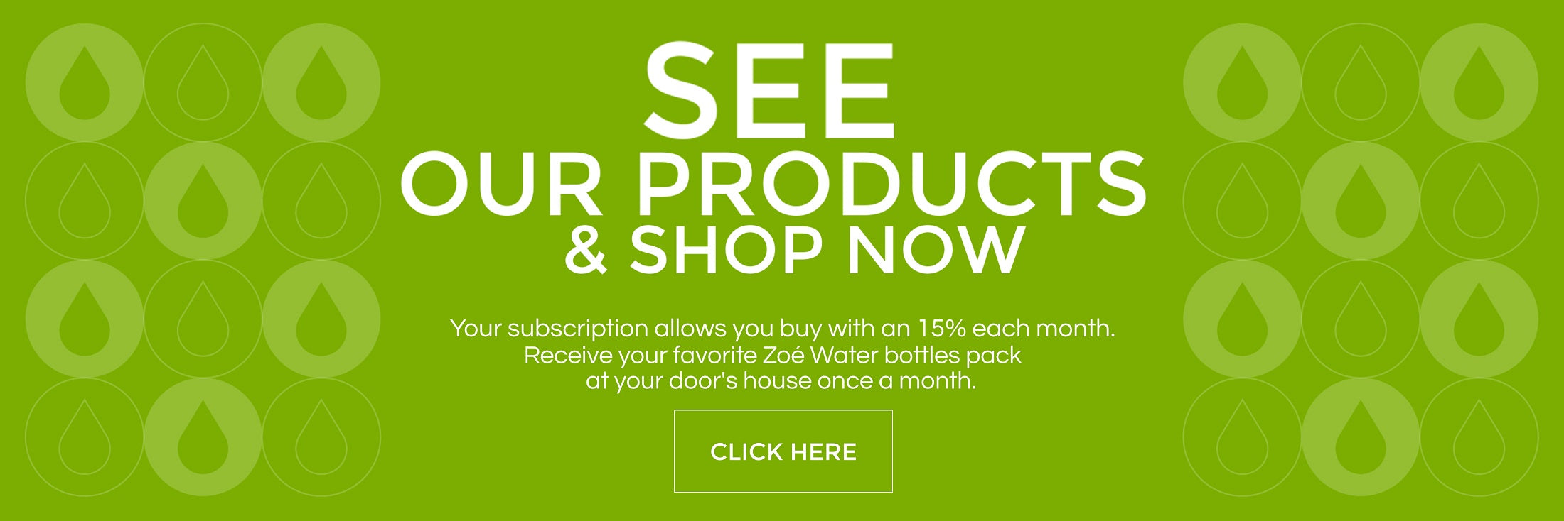 Zoé Water USA products subscription 15% OFF