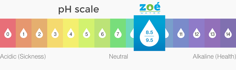 pH scale Zoé Water