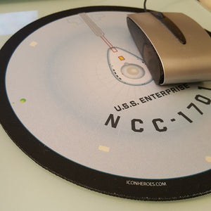 Star Trek Mission New York Exclusive NCC-1701 Saucer Mouse Pad