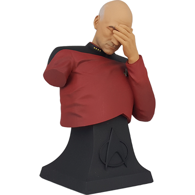 Star Trek The Next Generation Captain Picard Facepalm Mini Bust Paperweight (ThinkGeek Exclusive)