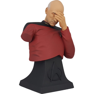 Star Trek The Next Generation Captain Picard Facepalm Mini Bust Paperweight (ThinkGeek Exclusive) - Icon Heroes