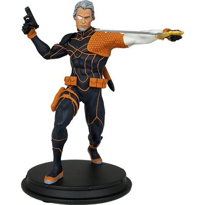DC Comics Exclusive Deathstroke Unmasked Rebirth Statue - Icon Heroes