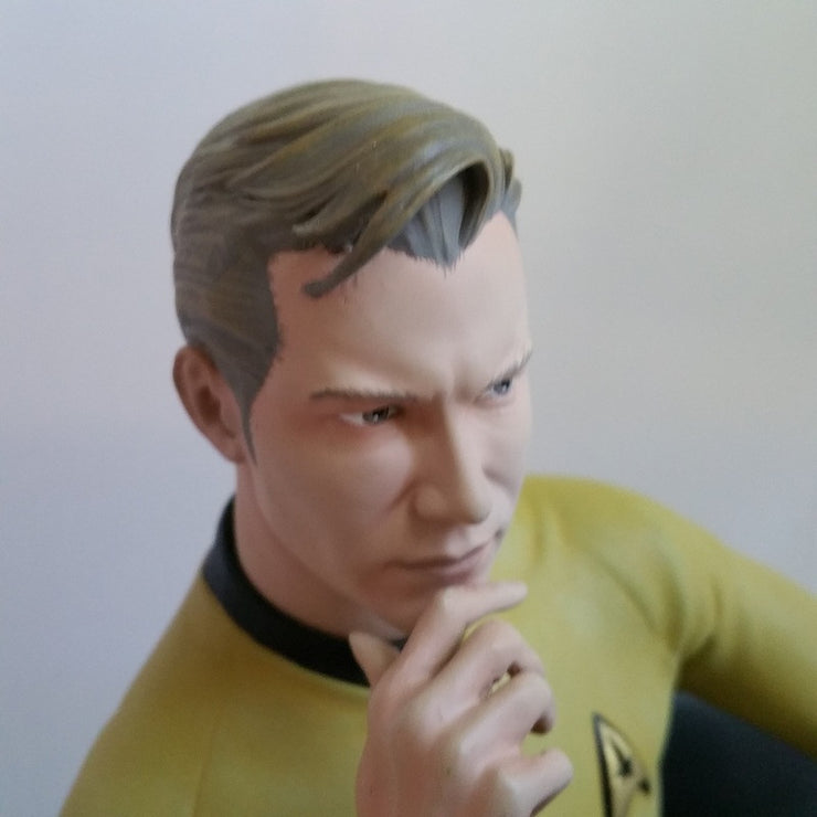 Star Trek TOS Captain Kirk on Chair Statue Bookend - Icon Heroes