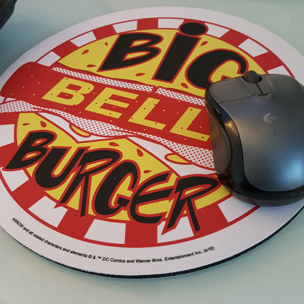 DC Comics Exclusive Arrow TV Big Belly Burger Mouse Pad - San Diego Comic 2017 Exclusive