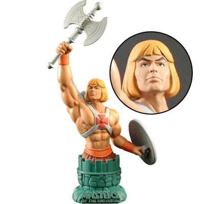 Masters of the Universe He-Man with Battle Axe and Shield Mini Bust Paperweight - Icon Heroes