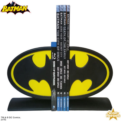 DC Comics Batman Logo Bookends - Icon Heroes