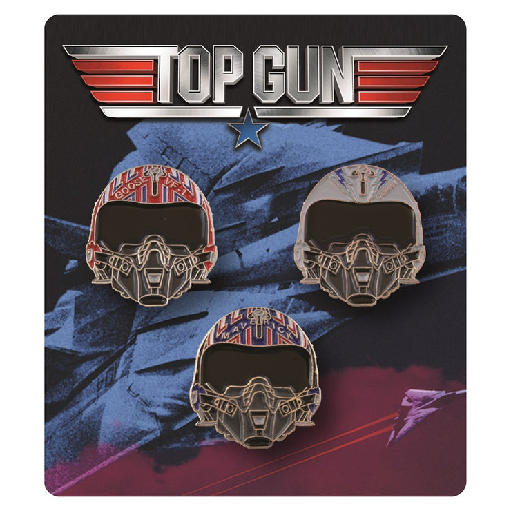 Helmets of Top Gun Collectible Enamel Pin Set - Exclusive - Icon Heroes