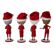The Golden Girls Polystone Bobbleheads Christmas Edition Set - Exclusive - Icon Heroes
