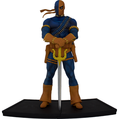 DC Comics The New Teen Titans Deathstroke Polystone Statue - Exclusive - Icon Heroes