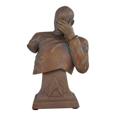Star Trek TNG Captain Picard Facepalm Faux-Bronze Mini Bust Paperweight (ThinkGeek Exclusive) - Icon Heroes