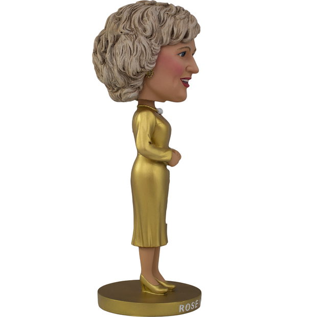 The Golden Girls Rose Nylund Gold Dress Bobblehead - Exclusive - Icon Heroes
