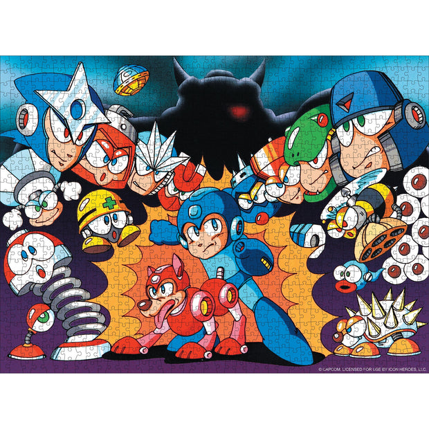 Mega Man Classic Jigsaw Puzzle - Icon Heroes
