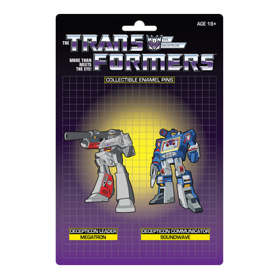 Transformers Megatron X Soundwave Retro Pin Set - Available 3rd Quarter 2021 - Icon Heroes