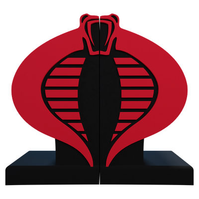 G.I. Joe Cobra Logo Bookend - Available 1st Quarter 2022 - Icon Heroes