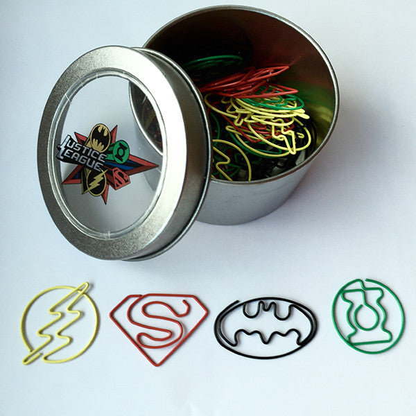 DC Comics Justice League Paper Clips (Set of 40)