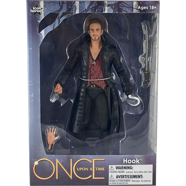 ONCE UPON A TIME HOOK  6 INCH ACTION FIGURE NEW IN BOX BY ICON HEROES EXCLUSIVE