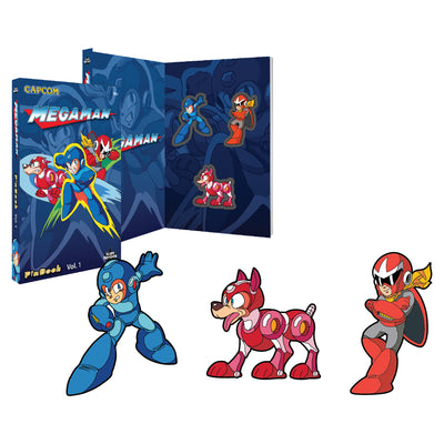 Mega Man Rush Proto Man Pins PinBook Icon Heroes