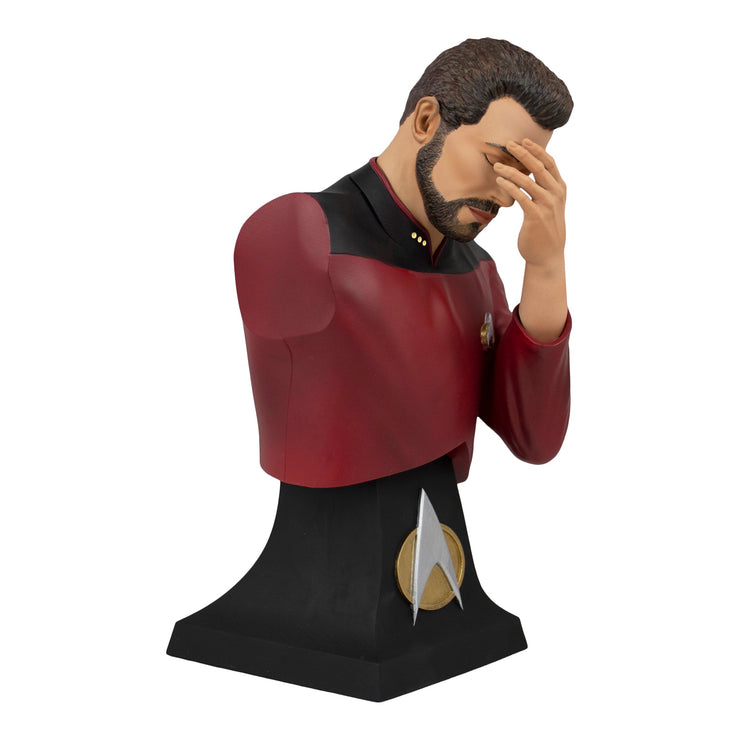 Star Trek The Next Generation Commander Riker Facepalm Bust Paperweight - Exclusive - Icon Heroes