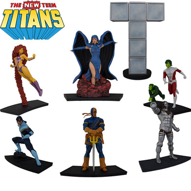 DC Comics New Teen Titans EXCLUSIVE 1/9 Scale Polystone Statues Set of 6 with Titans Tower - Available 1st Quarter 2019