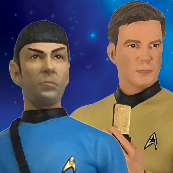 Exclusive Star Trek TOS Kirk and Spock Statue Paperweight Two-Pack - Icon Heroes