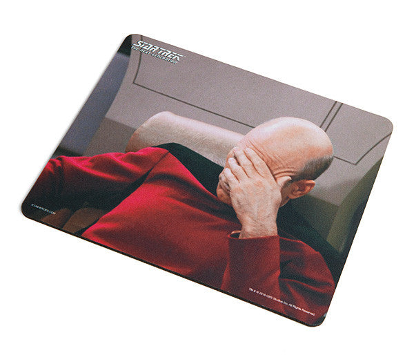 Star Trek: The Next Generation Facepalm Mouse Pad (ThinkGeek Exclusive) - Icon Heroes
