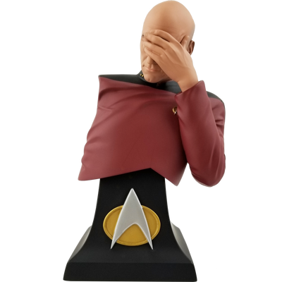 Star Trek The Next Generation Captain Picard Facepalm Bust Paperweight - Previews SDCC Exclusive - Icon Heroes